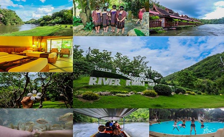 โรงแรม ริเวอร์แคว วิลเลจ กาญจนบุรี สถานที่ดีสวยงดงามน่าพักพร้อมราคาค่าเช่าห้อง